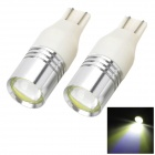 Marsing DIY T15 3W 200lm 1-COB LED White Light Car Indicator / Reverse Lamp - (DC 12V / 2 PCS)