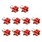 MaiTech RCA AV-6 One 180 Degree 2-pin Audio Jacks - Red (10 PCS)