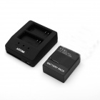 3-In-1 USB Multifunction Dual-Slot Charger + Battery for GoPro Hero 3+ / 3 - Black