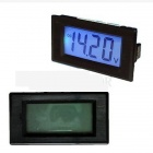 Tai Shen TS-303L Blue 3 1/2 LCD Digital Panel Voltmeter - Black (7.5~20V)
