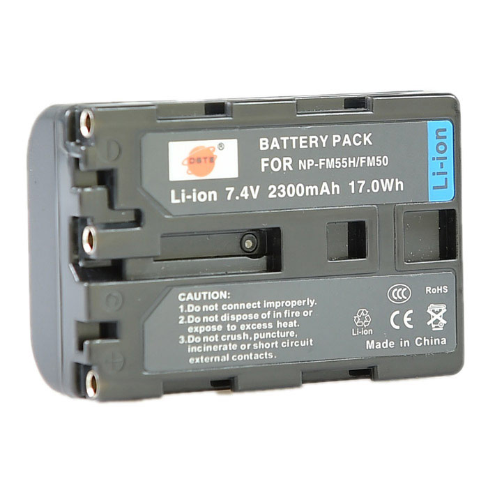 DSTE NP-FM50 / FM55H Battery + Charger for Sony F717 F828 S85 300K 3028 418E 96K D1000 Camera sony np bg1 battery
