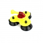 BZ BZC 3-Suction Cup Car Adapter Holder for GoPro Hero 2 / 3 / 3+ / SJ4000 - Yellow + Black