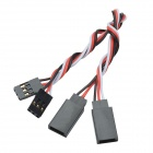 CHEERLINK 30-Core Male to Female Anti-interference RC Servo Extension Cord - Black (15cm / 2 PCS)