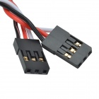 CHEERLINK 30-Core Male to Female Anti-Interferenz RC Servo Verlängerungskabel - Schwarz (15cm / 2 PCS)