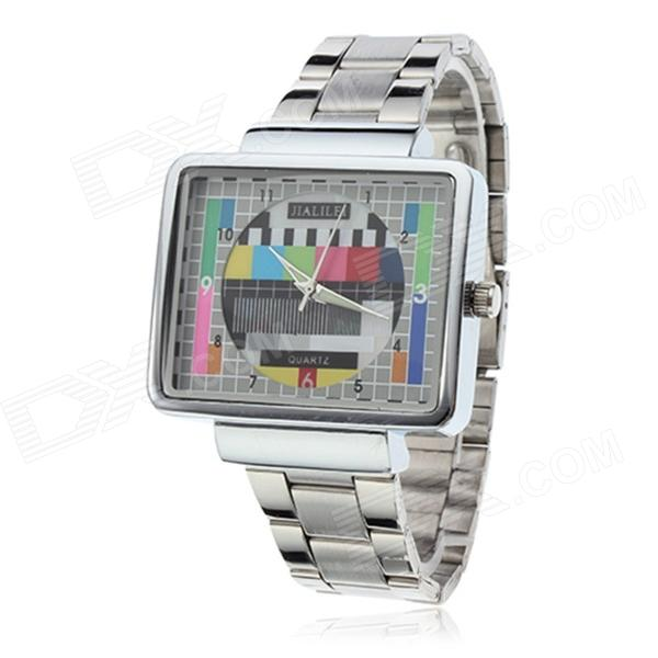 Unisex TV Style Zinc Alloy Band Analog Quartz Wrist Watch - Silver + White green day green day awesome as fuck cd dvd