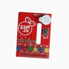 Raspberry Pi RPI Raspberry PI BerryClip 6-LED Add-on Board Python Learning Board - Red