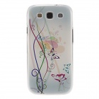 Kinston Colorful Flowers and Butterflies Pattern Plastic Protective Case for Samsung Galaxy S3 i9300