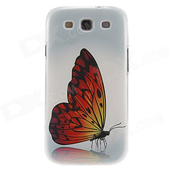 Kinston Gorgeous Butterfly Pattern Plastic Protective Hard Back Case for Samsung Galaxy S3 i9300 kinston colorful flowers and butterflies pattern plastic protective case for samsung galaxy s3 i9300