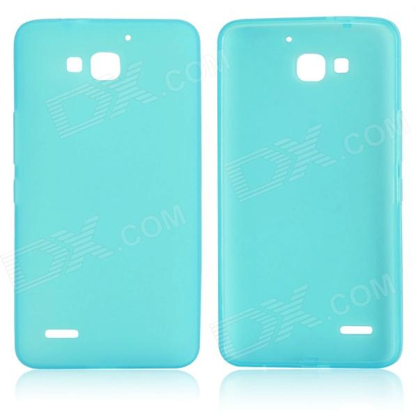 DF-002 Protective TPU Case w/ Anti-dust Plugs for Huawei Honor 3X G750 - Light Blue