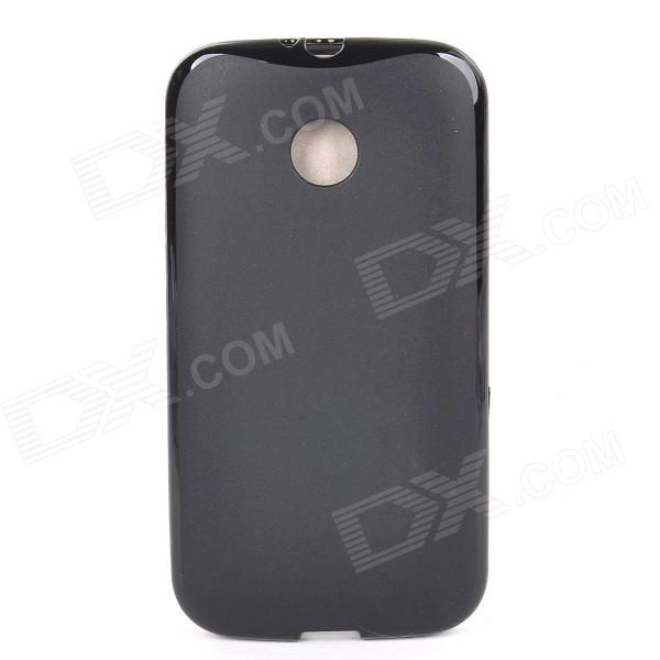 Protective Anti-slip TPU Back Case for Moto E - Black