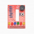 DIY RPI Raspberry PI BerryClip 6-LED Add-on Board Python Learning Board - Red