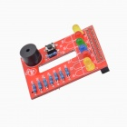 DIY RPI BerryClip 6-LED Add-on Board Python Learning Board for Raspberry PI - Red
