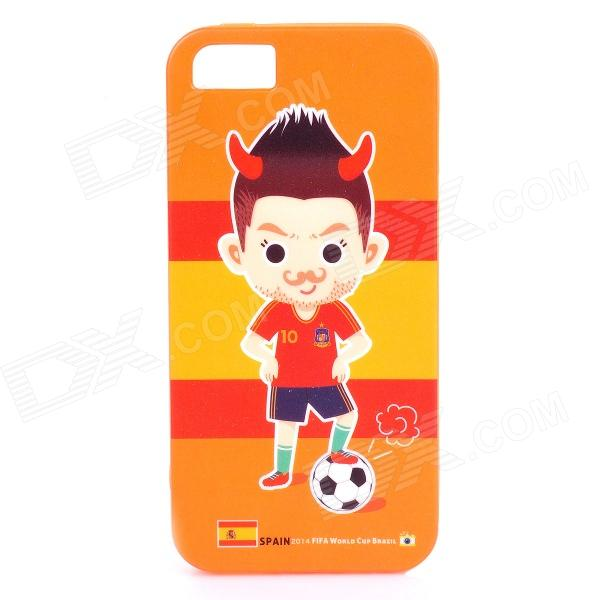 ROCK Spain World Cup Style Protective TPU Back Case for IPHONE 5 / 5S - Orange + Red + Multicolored roar korea all day matte case tpu skin for iphone 7 plus 5 5 inch orange