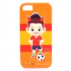 ROCK Spain World Cup Style Protective TPU Back Case for IPHONE 5 / 5S - Orange + Red + Multicolored