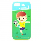 ROCK Brazil World Cup Style Protective TPU Back Case for IPHONE 5 / 5S - Green + Multicolored