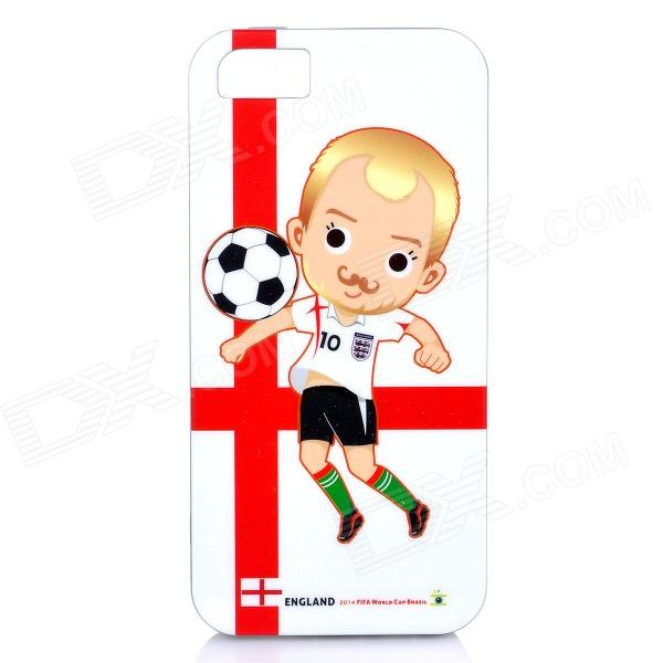 ROCK England World Cup Style Protective TPU Back Case for IPHONE 5 / 5S - White + Red + Multicolored аксессуар чехол rock jello protective shell for iphone 6 white 69439