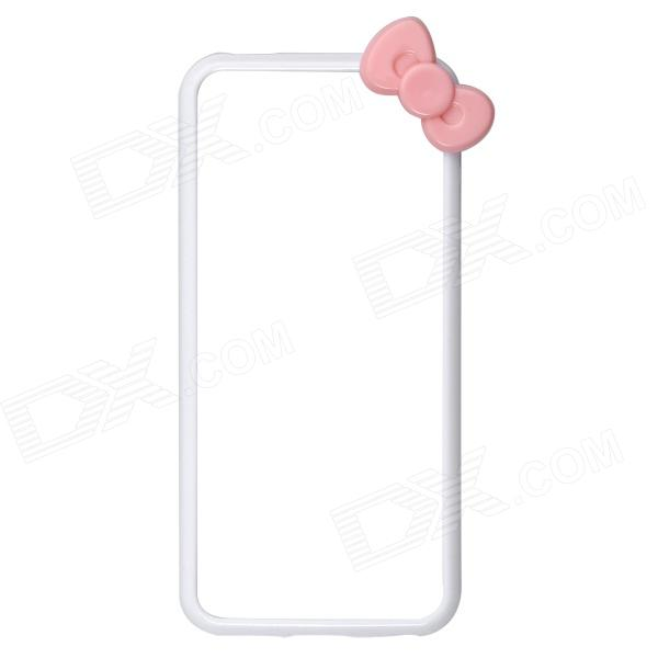 Bowknot Style Protective Bumper Frame Case for IPHONE 5C - White + Light Pink ipega i5056 waterproof protective case for iphone 5 5s 5c pink