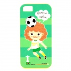 ROCK 2014 World Cup Football Dream Protective TPU Back Case for IPHONE 5 / 5S - Green + Black