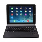 IS11-I5E Detachable Bluetooth V3.0 64-Key Keyboard w/ PU Leather Case for IPAD AIR - Black