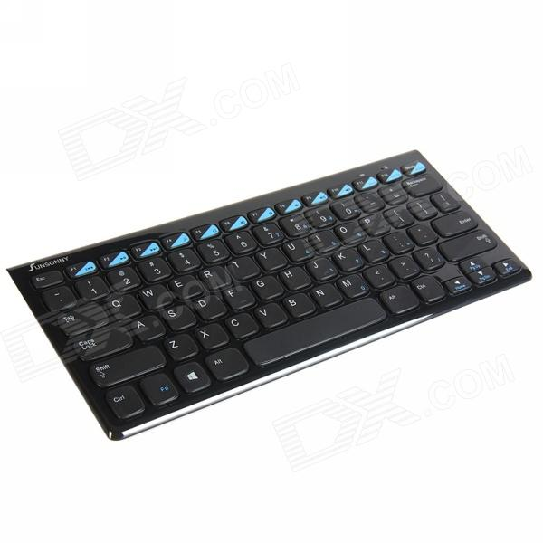 все цены на Sunsonny Z-130 Wireless Multi-Functional Ultrathin Bluetooth V3.0 Keyboard - Black онлайн