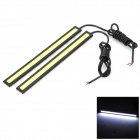 Marsing High Power 8W 600lm 8000K COB LED White Light Car Daytime Running Lamp (12V / 2 PCS)