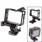 PANNOVO G-484 360 Degree Rotary Plastic Frame Mount  for GoPro Hero 3+ / 3 / 2 - Black
