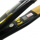 "LOOF Profession Vibrating Massage 0.7"" Screen Titanium Board Hair Straightener - Black (EU Plug)"