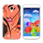 Hot Sexy Girl Pattern Protective TPU Case for Samsung Galaxy S4 i9500 - Black + Beige
