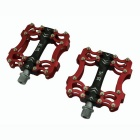 Tavta HR-HM1 Lightweight Extra Strength Three Bearing Aluminum Alloy Bicycle Bike Pedal - Red +Black