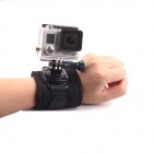 Arm Band Wrist Strap w/ 360' Rotary Connector for Gopro Hero - Black