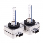 35W 3200lm 8000K Blue White Light Car HID Xenon Lamp Bulbs - Silver + Transparent (Pair)