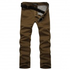 C100498 Men's Fashionable Casual Long Cotton Pants - Brown (Size 30)