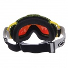 CRG80-9A Outdoor Sports Windproof Anti-fog Dual-Layer Lens Skiing Goggles - Yellow