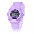 Children's Sports Style Translucent Digital Quartz Wrist Watch - Purple (1 x CR2016)