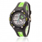 O.TAGE Children's 5 ATM Dual-Zone Digital + Analog Quartz Wristwatch - Black + Green (1 x CR2016)