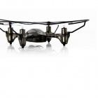 Mini 2.4GHz 6-CH IR Remote Control Outdoor Quadcopter Toy - Black (6 x AA)