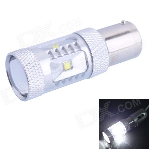 1156 / BA15S / P21W 30W 600lm White LED for Car Steering Light / Backup Light (DC 12~24V) - DXBayonet Bulbs(BA9S/BA15S)<br>Color BIN White Brand N/A Model 1156-30W Quantity 1 Piece Material Aluminum Color OthersSilver Emitter Type LED Chip Brand Cree Chip Type Aluminum Total Emitters 6 Power Others30W Color Temperature 6500 K Theoretical Lumens 600 lumens Actual Lumens 400 lumens Rate Voltage DC 12-24V Waterproof Function No Connector Type 1156 Application Brake lightLicense plate lightSteering lightTail light Packing List 1 x LED car light<br>