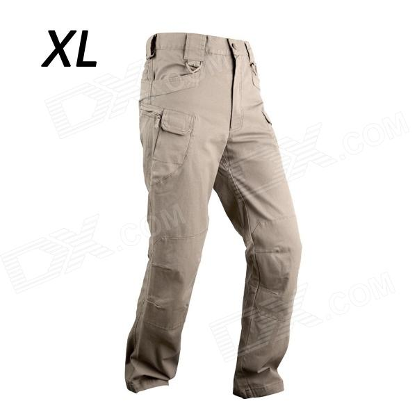 ESDY-916 IX7 Men's Casual Cotton Trousers - Khaki (Size XL)