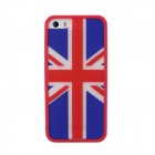 England Flag Style Protective TPU Case Cover for IPHONE 5 / 5S - Blue + Red + White