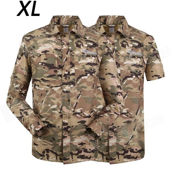 ESDY-636 Men's Quick-Drying Removable Outdoor Shirts - MultiCam (Size XL)