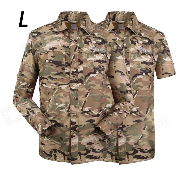 ESDY-637 Men's Quick-Drying Removable Outdoor Shirts - MultiCam (Size L)