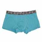 Men's Super Soft Modal Bamboo Fiber Breathable Boxers Underpants - Blue (2 PCS / XL)