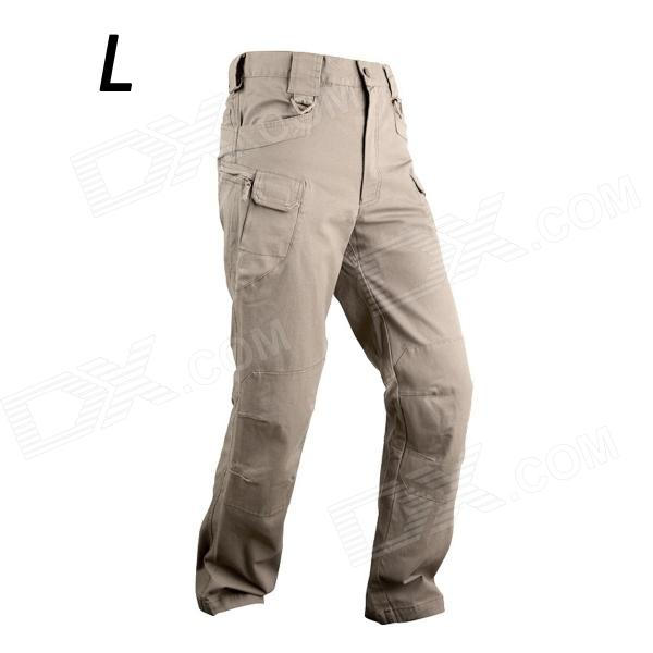 ESDY-917 IX7 Men's Casual Cotton Trousers - Khaki (Size L)