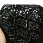 Mini Heart Style Patent Leather Handbag Purse - Black