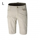 ESDY-812 Consul IX7 Men's Outdoor Leisure Cotton Cycling Shorts - Khaki (Size L)