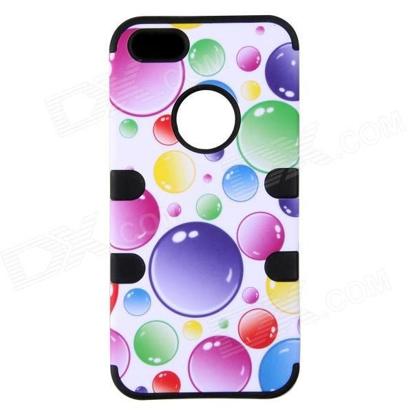 Colorful Bubble Pattern Protective Silicone Back Case for IPHONE 5 / 5S - Black + Blue + MulticolorSilicone Cases<br>Protects your device from scratches dust shock and abrasion; Allows to access to all the interfaces and controls.<br>
