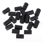 ZnDiy-BRY R203-312 M3 x 12 Nylon Plastic Hexa Pillar Spacer Supporter - Black (20 PCS)