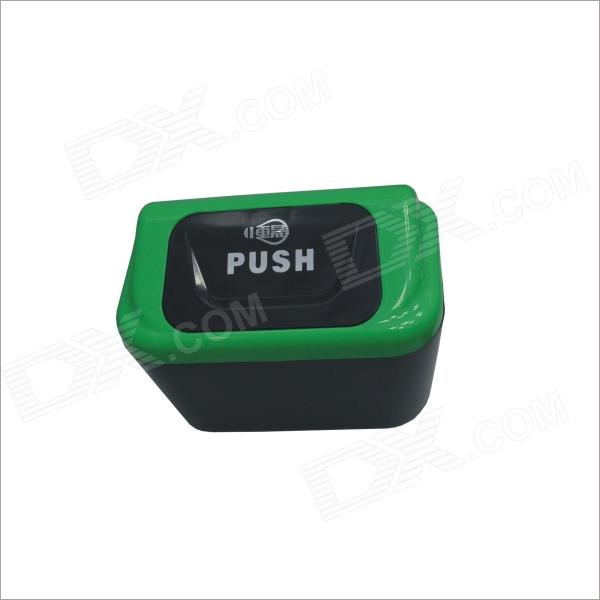Carking 8839 Car Plastic Trash Can With Clip - Green + Black