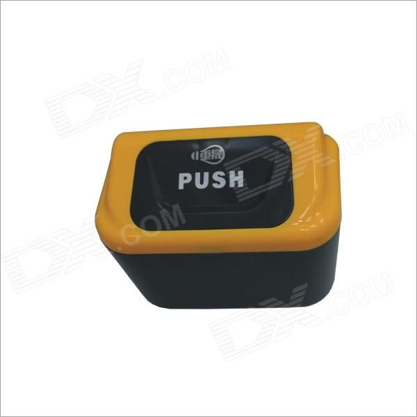 Carking 8839 Car Plastic Trash Can With Clip - Yellow