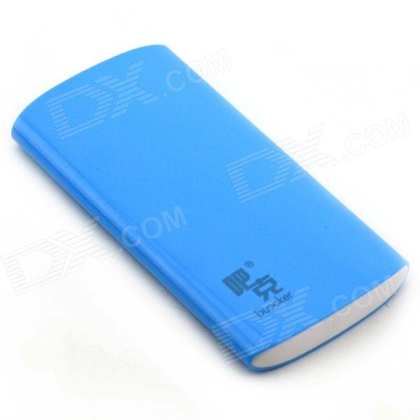 Buccker T10 ''6600mAh'' Li-polymer Battery Power Bank for Cellphone / IPAD / PSP / MP3 + More - Blue 5pcs 3 7v 2000mah lithium rechargeable battery cells power for pad gps psp vedio game e book tablet pc power bank 286172 306070